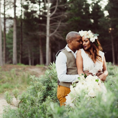 Boho forest elopement inspiration